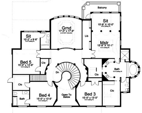 home blueprints classical style house plan 5 beds 7 00 baths 5699 sq ft plan 119 363