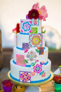 Colorful wedding cakes photo by tami melissa photography http