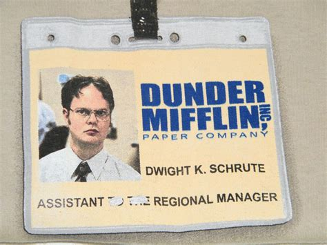 Assistant To The Regional Manager the office dwight schrute id badge assistant regional