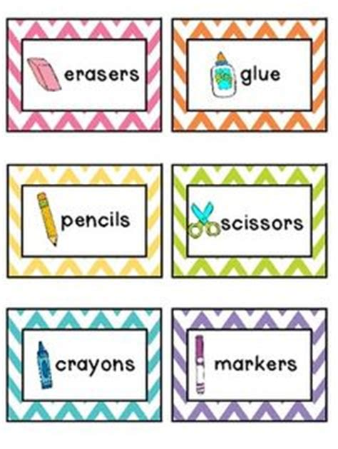 printable labels for kindergarten classroom supply labels classroom supplies and label for on pinterest