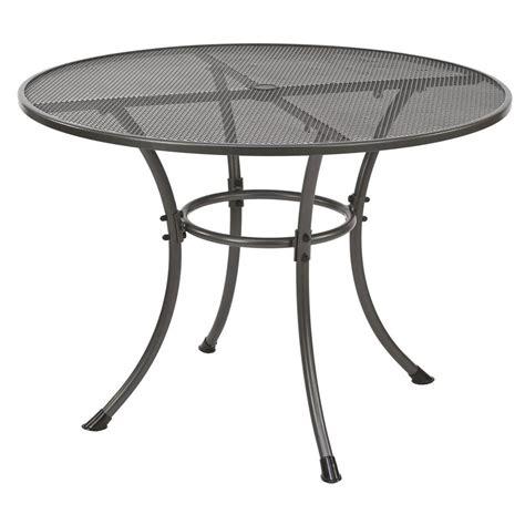 round garden bench table alexander rose portofino 105cm round metal garden table