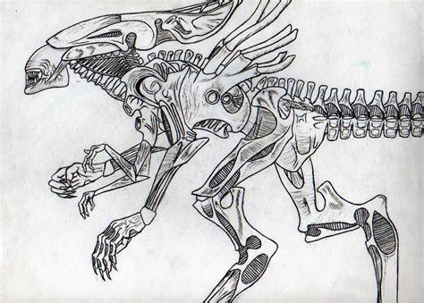 how to draw alien queen