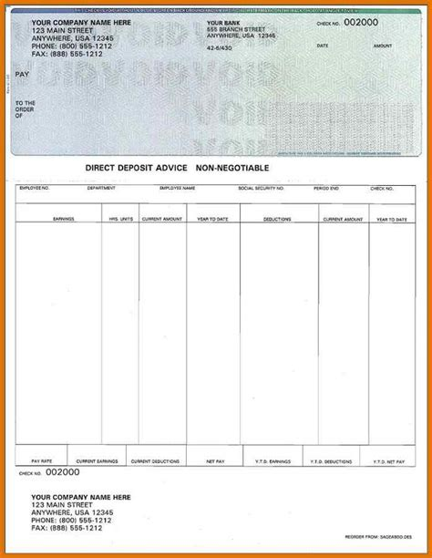 payroll check stubs template free check stub template printables modern bio resumes
