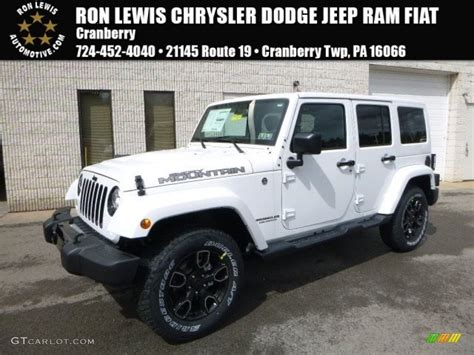 jeep smoky mountain rhino 2017 bright white jeep wrangler unlimited smoky mountain