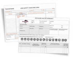 job safety analysis forms jsa jha form printing