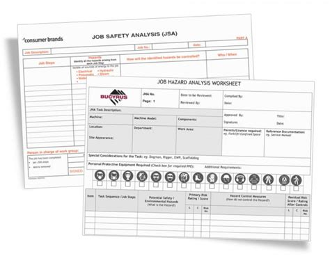jha template safety analysis forms jsa jha form printing