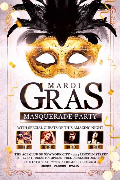 masquerade poster template carnival masquerade flyer template