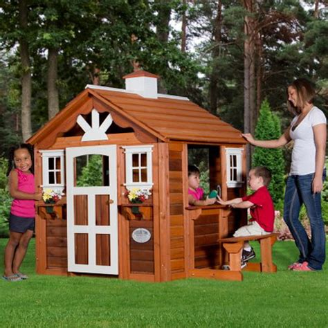 new wooden summer cottage playhouse outdoor cedar