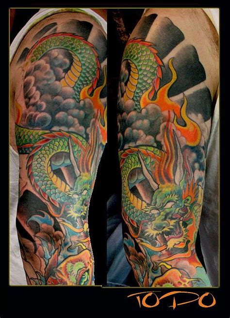 oriental tattoo colored 1000 images about japanese dragon sleeve tattoos on