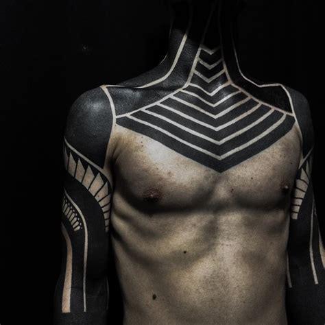 dark art blackout tattoo