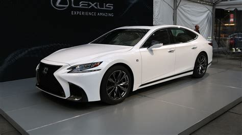 lexus sedan white 2018 lexus ls 500 f sport is a more aggressive luxury sedan