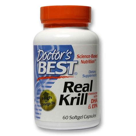 Krill And Detox by Doctor S Best Real Krill With Dha And Epa 60 Softgels