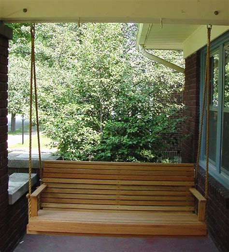 outdoor porch swing red oak porch swing