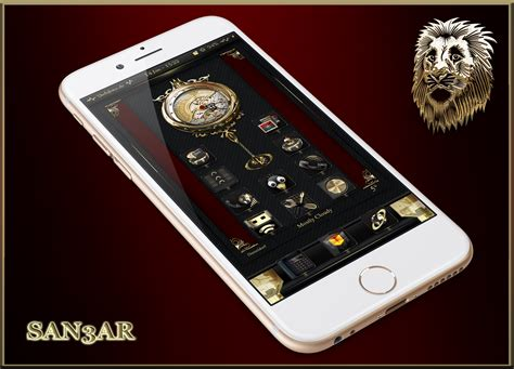 iphone themes gold lion d or ligth black gold ios8 theme page 6 modmyforums