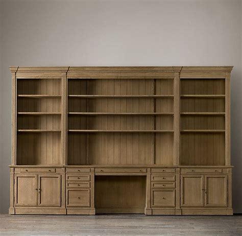 library bookcase wall unit restoration hardware 1000 images about office all desks on