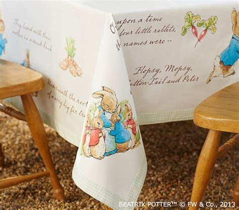 Home Design Credit Card Stores peter rabbit tablecloth pottery barn kids