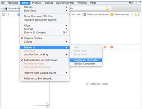 xcode layout navigation bar wunderbar indesign vorschlagsvorlage bilder beispiel