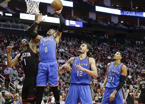 Thunder In The City okc thunder 5 reasons why okc can beat the rockets