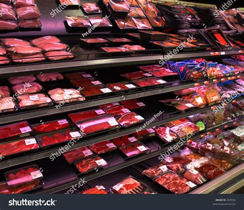 supermarket meat section meat section in supermarket stock photo 269932 shutterstock