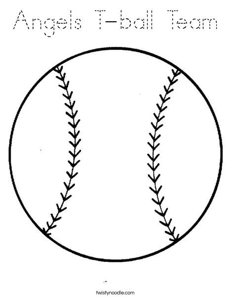 print this coloring page itll print full page angels t ball team coloring page tracing twisty noodle