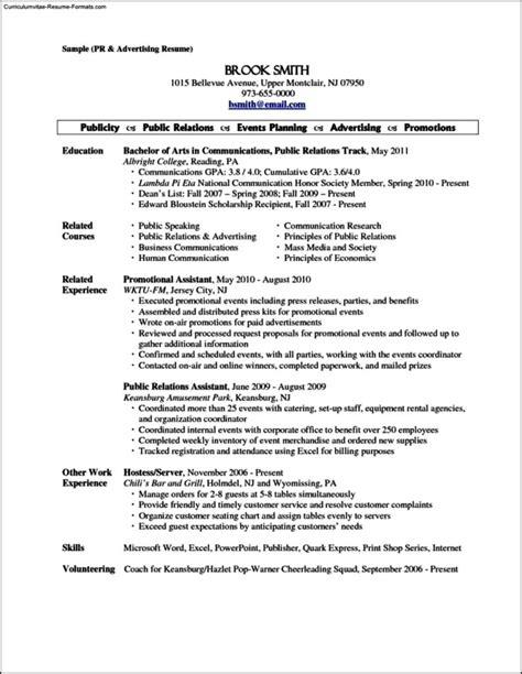 Resume Sle For Server by Resume Template Server Free Sles Exles Format Resume Curruculum Vitae Free