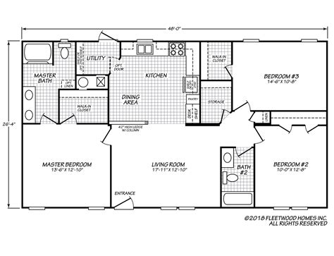 fleetwood manufactured home floor plans vogue xtreme 28483x fleetwood homes