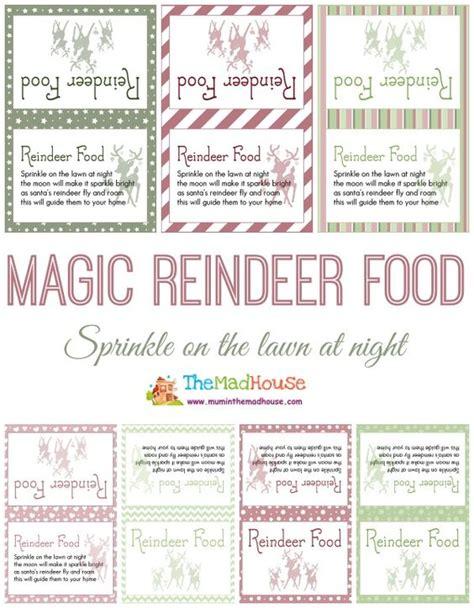 printable reindeer labels reindeer food reindeer and free printables on pinterest