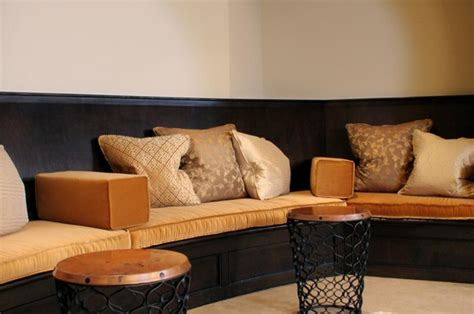 built in bench cushions gorgeous built in bench seating with gold velvet cushion