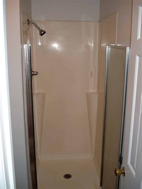 painting fiberglass bathtub shower interior one piece fiberglass shower stalls freestanding