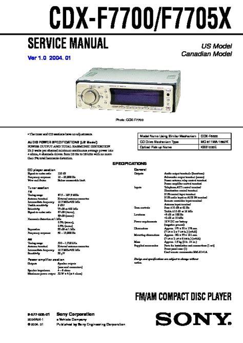 sony xplod drive s cdx gt40w wiring diagram sony cdx gt710