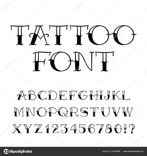 Tattoo Font Prices   tattoo font vintage style alphabet letters and numbers