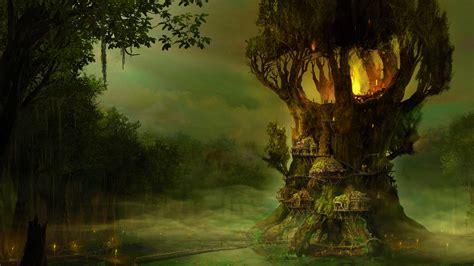elven wallpaper background elf pictures and images elves tree village wallpaper