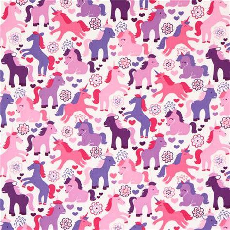 unicorn pattern fabric cute fairy tale unicorn fabric purple michael miller usa