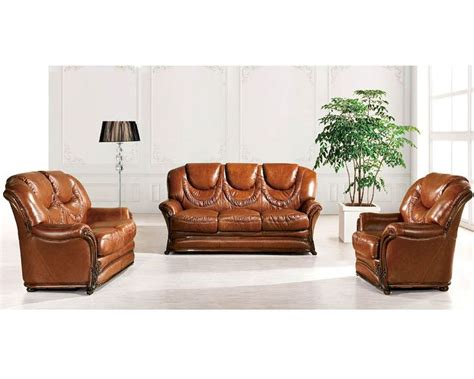 european furniture sofa set in light brown finish 33ss41