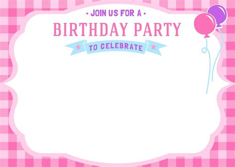 Birthday Invitation Card Template by Birthday Invitation Cards Templates For World Of Label