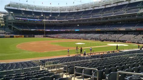 section 125 yankee stadium field level infield yankee stadium baseball seating