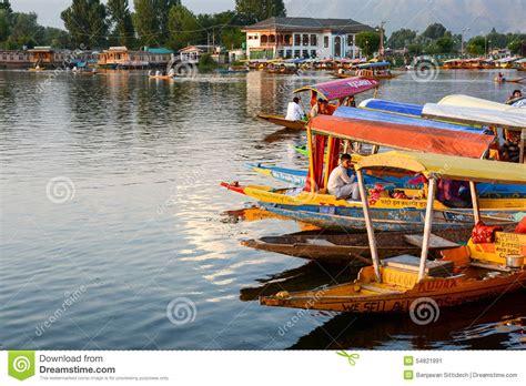 boat lifestyle dal lake at srinagar kashmir india editorial photo
