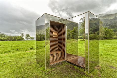 Mirrored Cabin by Mirrored Cabin Reflects Landscape As It Materializes In