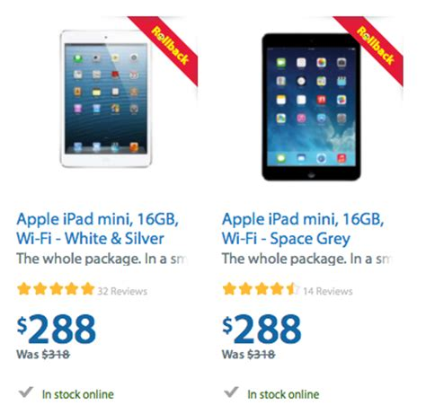 Walmart Ipad Gift Card - walmart rollback 16gb wi fi ipad mini on sale for 288 iphone in canada blog