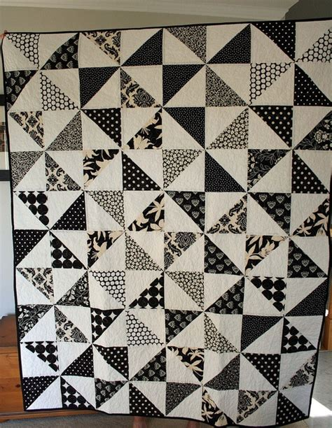 Black Quilt by Black And White Pinwheel Quilts Triangles A