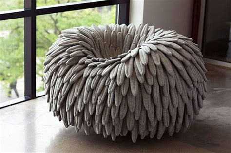 Poofy Chair feather like chair fubiz media