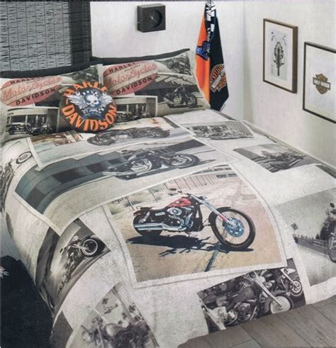 Harley Davidson Quilt Cover Set by Harley Davidson Quot Harley Collage Quot Single Bed Quilt Doona