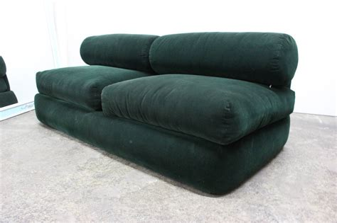 corduroy couches green corduroy sofa in the style of milo baughman for sale