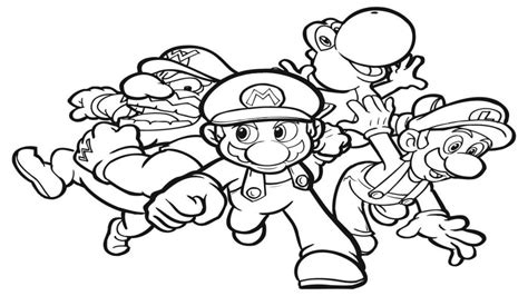 mario characters coloring pages online coloring pages mario characters
