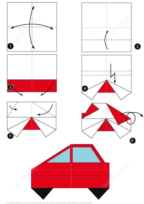 How To Make A Origami Car - how to make an origami car free printable