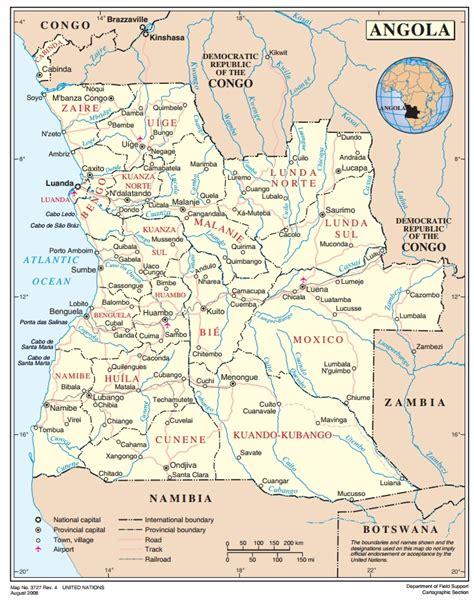 angola map angola ecoi net european country of origin information network