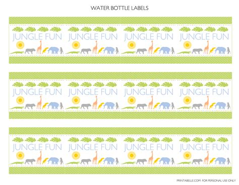 printable jungle labels free jungle party printables from printabelle catch my party