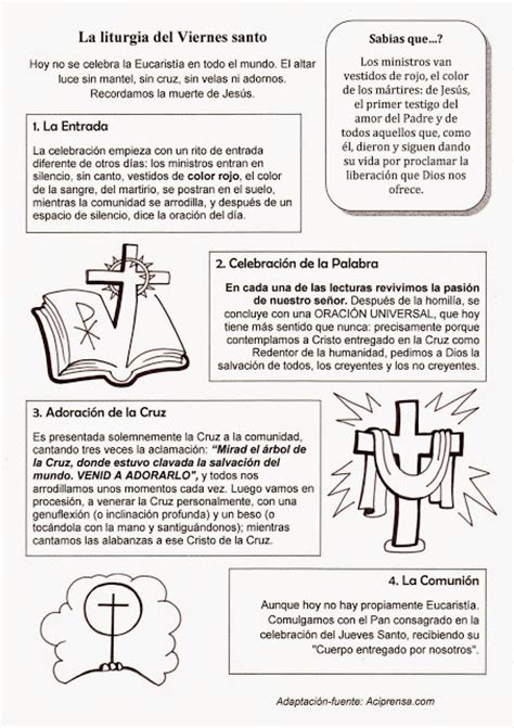 imagenes viernes santo para ni os parroquia la inmaculada viernes santo fichas para ni 241 os 1