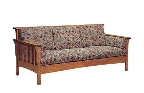 high back loveseats amish high back slat sofa