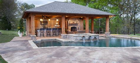 house plans with outdoor kitchens pool house designs outdoor solutions jackson ms